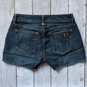 Joe's raw hem denim shorts sz 26 like new